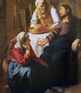 Christ in the House of Mary and Martha, Jan Vermeer, c. 1654.